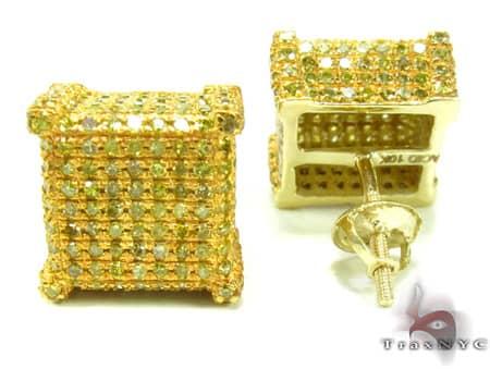 Mens Diamond Earrings 19947 Stone