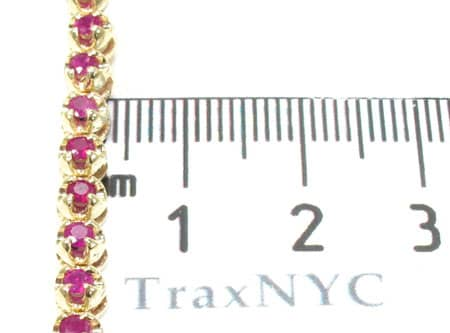 Mens Ruby Chain 26 Inches 4mm 40 Grams Diamond