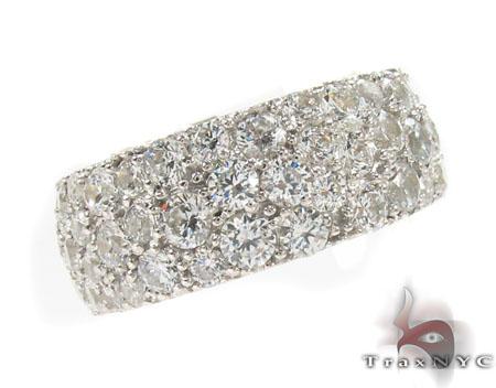 3 Row Pave Diamond Ring Stone