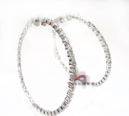 TL Hoop Earrings Stone