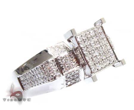 Ladies Square Crown Pave Ring 2 Anniversary/Fashion