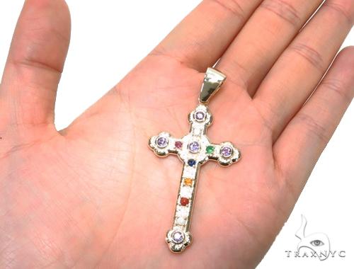 Basilica Diamond Gemstone Cross 40809 Style