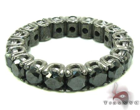 Black Diamond Eternity Wedding Ring Stone
