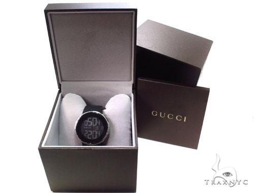 Diamond Half Iced Digital Gucci Watch Gucci