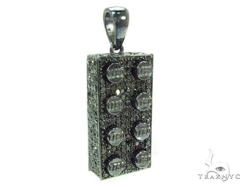 Full Black Diamond Lego Pendant Metal