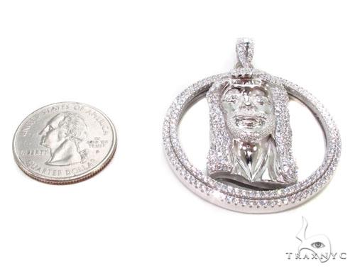 Jesus Head Silver Pendant 36591 Metal
