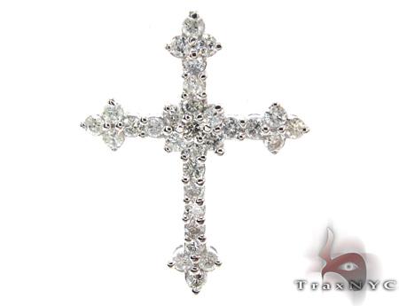 Ladies Prong Diamond Cross 21206 Style