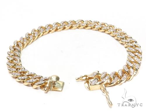Maimi Cuban CZ Bracelet 44777 Gold