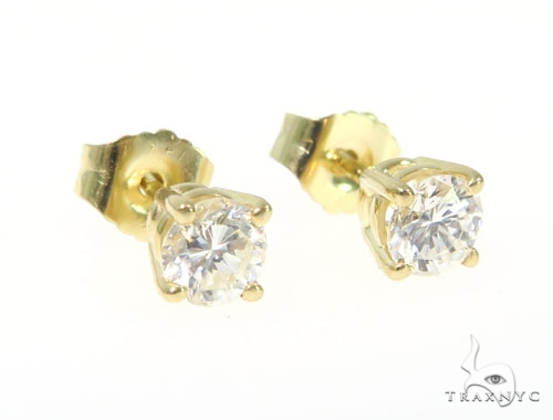 Prong Diamond Earrings 43236 Stone