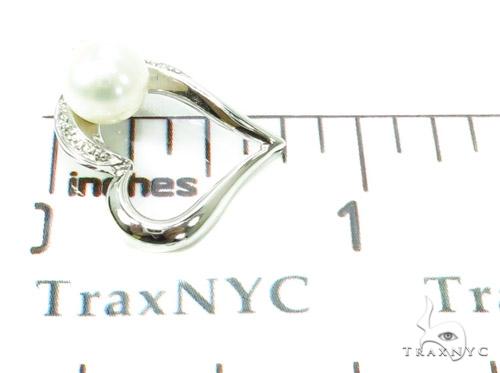 Prong Diamond Pearl Heart Pendant 37870 Style