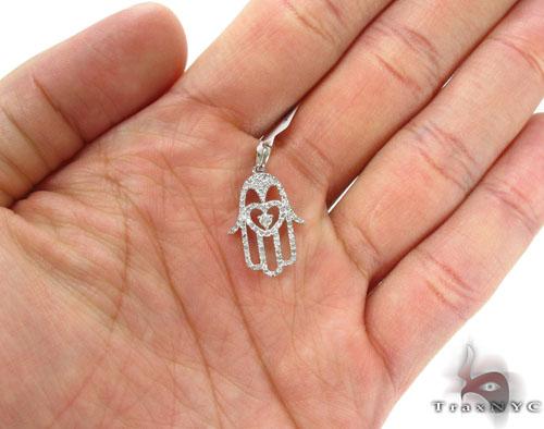 Prong Diamond Pendant 34252 Metal