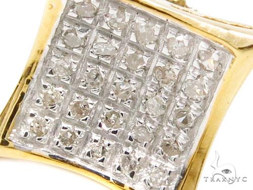 Prong Diamond Silver Earrings 40271 Metal