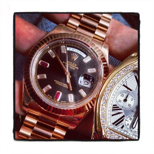 Rolex Day-Date II President Everose Gold Diamond Rolex Watch Collection