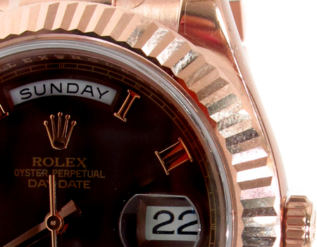 Rolex Day-Date Rose Gold 218235 Diamond Rolex Watch Collection