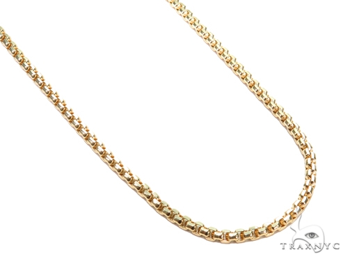 Round Box Gold Chain 24 Inches 3mm 14.8 Grams 40910 Gold