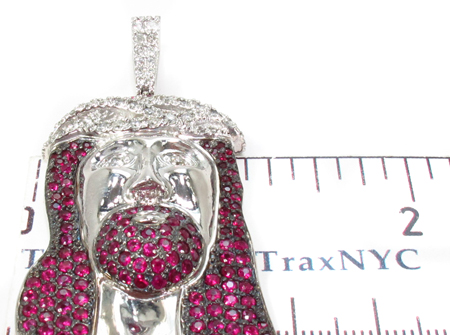 Ruby Jesus Silver Chain 31713 Style