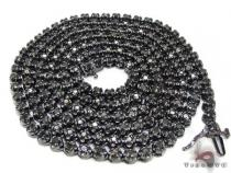 Black Gold Diamond Chain 30 Inches, 4mm, 44.9 Grams