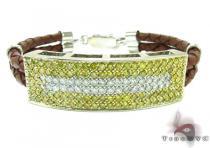 Mens Two Color Diamond Bracelet 21022